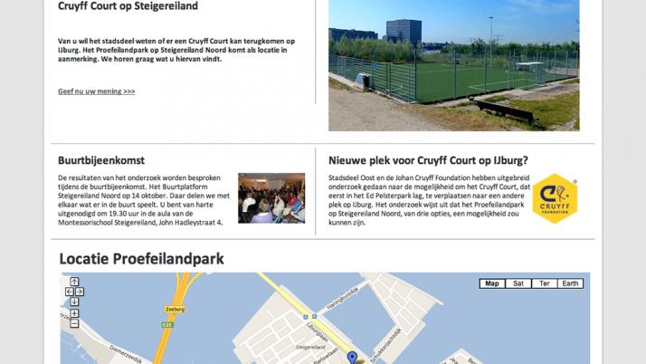 Plaatsing Cruyff Court