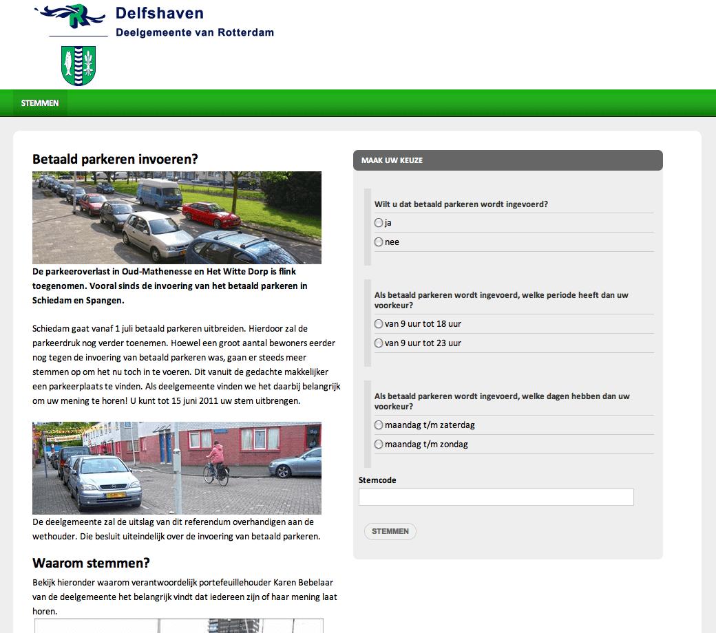 Invoeren betaald parkeren
