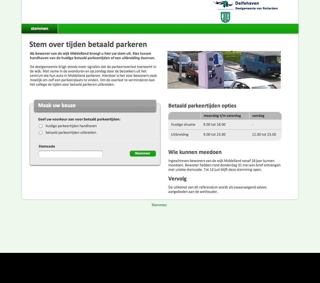 Aanpassen betaald parkeren