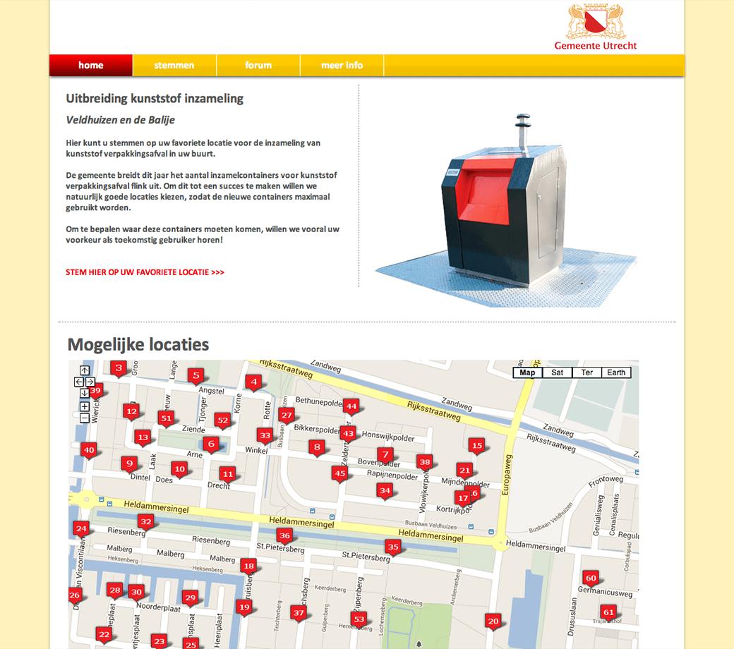 Locatie voor afvalcontainers